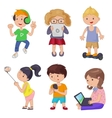 Cute cartoon children smart device vector image
