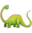 Dinosaur with long neck and tail vector image vector image