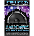 Disco Theme with speaker vector image