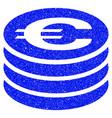 euro coin column grunge icon vector image vector image