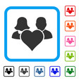 family love heart framed icon vector image vector image