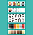 female avatar builder vector image vector image