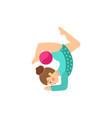 flat girl making gymnastics exercise vector image