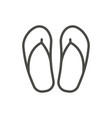 flip flop icon line beach flops symbol iso vector image vector image