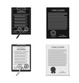 form and document sign set vector image vector image