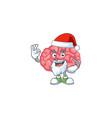 friendly brain santa cartoon design with ok finger vector image vector image
