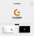 gold letter g creative logo with business card vector image