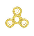gold spinner hand fidget toy icon vector image