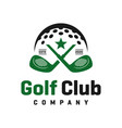 golf sports logo design vector image vector image