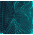 Grid Background 3d vector image vector image