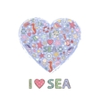 Heart sea vector image vector image