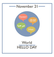 Hello Day vector image vector image
