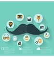 Hipster flat abstract background with web icons vector image vector image