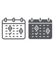 important date line and glyph icon month and day vector image vector image