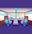 jet cockpit empty airplane cabin interior design vector image vector image