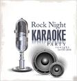 Karaoke background vector image vector image