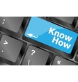 know knowledge or education concept button on vector image vector image