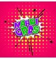 Lettering Mardi Gras pink vector image vector image