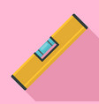 level tool icon flat style vector image vector image
