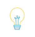 line electric bulb light and power energy vector image vector image
