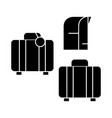 luggage icon sign o vector image vector image