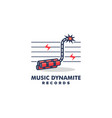 music dynamite design concept template vector image vector image