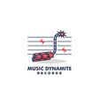 Music dynamite design concept template