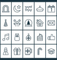 new icons set with mug close envelope present vector image vector image