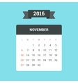 November 2016 Calendar vector image vector image