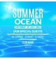 Ocean water party Tropical summer vacation poster vector image vector image
