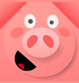 origami pink cheerful pig vector image