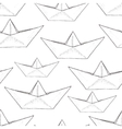 paper ship pattern vector image vector image