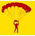 Parachutist Jumper in the helmet after the jump vector image