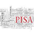 pisa word cloud concept vector image vector image