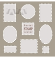 Postal stamps old style vector image
