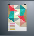 poster minimal design template business geometric vector image
