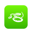 rattlesnake icon green vector image vector image