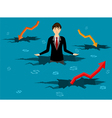 Regression business vector image vector image