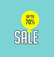 sale up to 70 blue background image vector image vector image