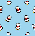 seamless pattern colored flat cartoon cute vector image vector image