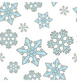 seamless pattern with winter elements christmas vector image vector image