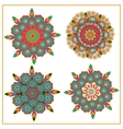 Set isolated of decorative circular pattern floral vector image vector image