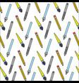set school supplies pattern vector image vector image