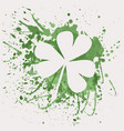 shamrock for St Patricks Day with green vector image vector image