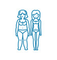 sharp weight loss linear icon concept sharp vector image vector image