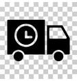 shipment schedule van icon vector image