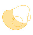 silhouette delicious fried egg to prepare food vector image