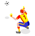 Soccer Goalkeeper 2016 Sports 3D vector image