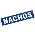 square grunge blue nachos stamp vector image vector image