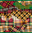 tartan plaid fabric patchwork collection vector image vector image